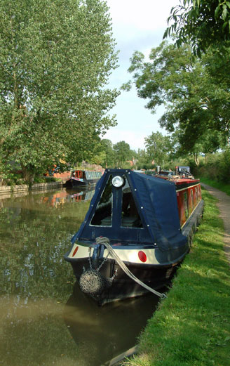 Canal boats on the Grand Union canal in Northamptonshire